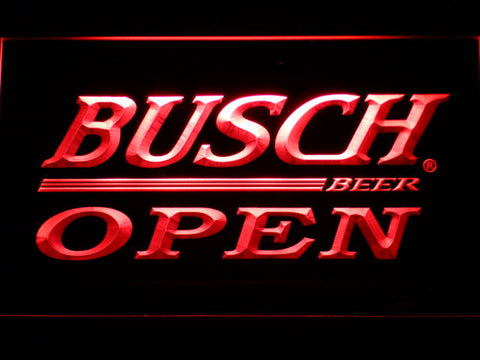 Busch Open LED Neon Sign - Red - SafeSpecial