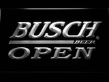 Busch Open LED Neon Sign - White - SafeSpecial