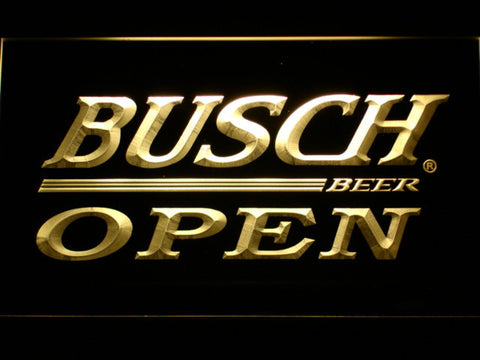 Busch Open LED Neon Sign - Yellow - SafeSpecial