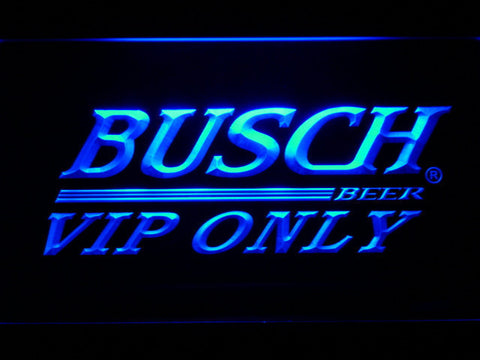 Busch VIP Only LED Neon Sign - Blue - SafeSpecial