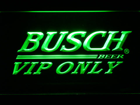Busch VIP Only LED Neon Sign - Green - SafeSpecial
