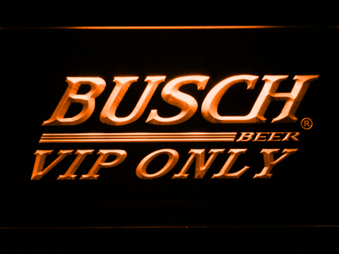 Busch VIP Only LED Neon Sign - Orange - SafeSpecial