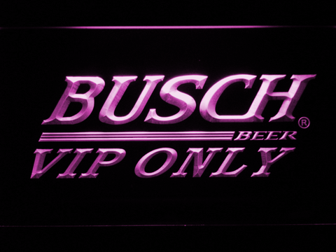 Busch VIP Only LED Neon Sign - Purple - SafeSpecial