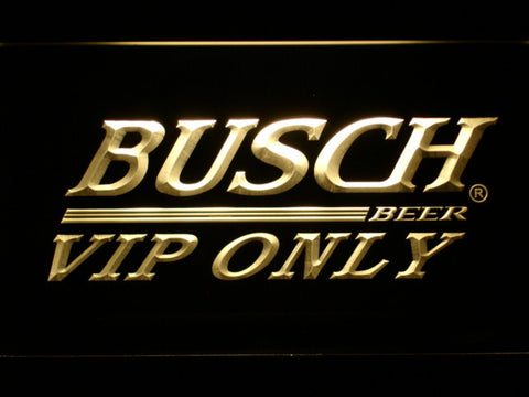 Busch VIP Only LED Neon Sign - Yellow - SafeSpecial