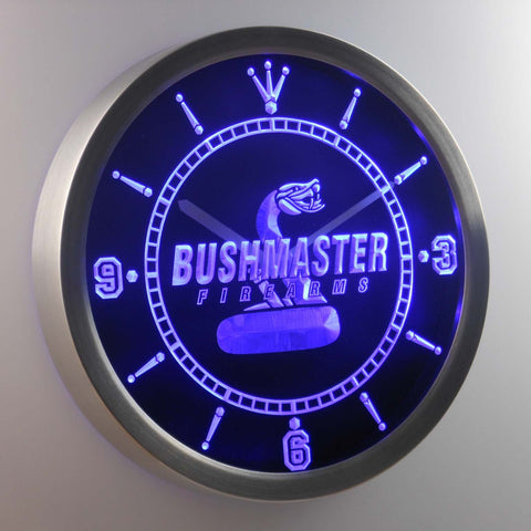 Image of Bushmaster LED Neon Wall Clock - Blue - SafeSpecial