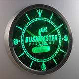 Bushmaster LED Neon Wall Clock - Green - SafeSpecial