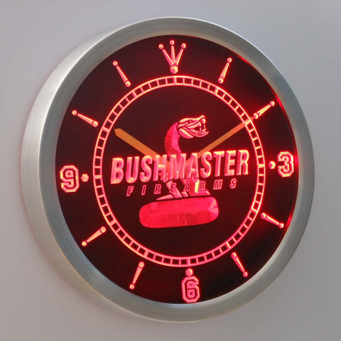 Image of Bushmaster LED Neon Wall Clock - Red - SafeSpecial