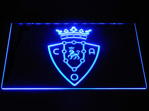 Image of CA Osasuna LED Neon Sign - Blue - SafeSpecial