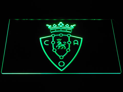 Image of CA Osasuna LED Neon Sign - Green - SafeSpecial