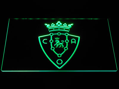 CA Osasuna LED Neon Sign - Green - SafeSpecial