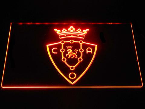 Image of CA Osasuna LED Neon Sign - Orange - SafeSpecial
