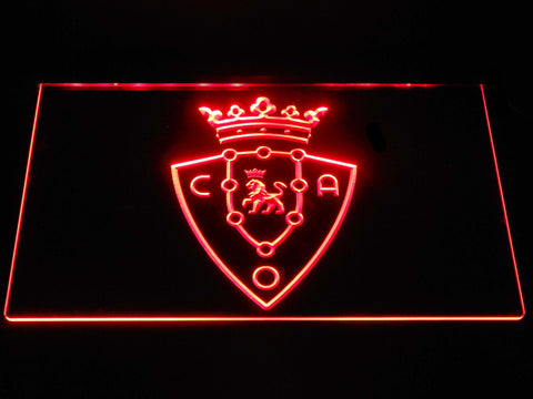 Image of CA Osasuna LED Neon Sign - Red - SafeSpecial