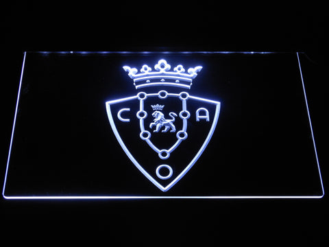 Image of CA Osasuna LED Neon Sign - White - SafeSpecial