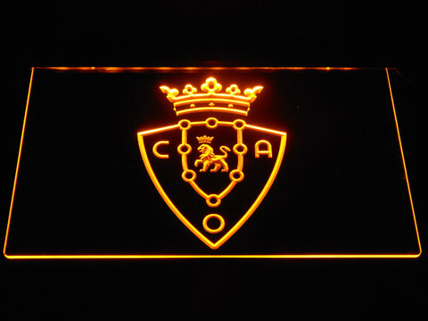 Image of CA Osasuna LED Neon Sign - Yellow - SafeSpecial