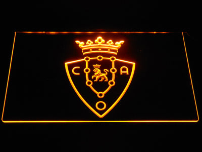 CA Osasuna LED Neon Sign - Yellow - SafeSpecial