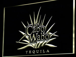 Cabo Wabo Tequila LED Neon Sign - Yellow - SafeSpecial