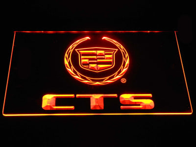 Cadillac CTS LED Neon Sign - Orange - SafeSpecial