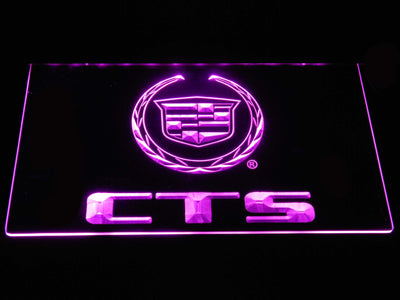 Cadillac CTS LED Neon Sign - Purple - SafeSpecial
