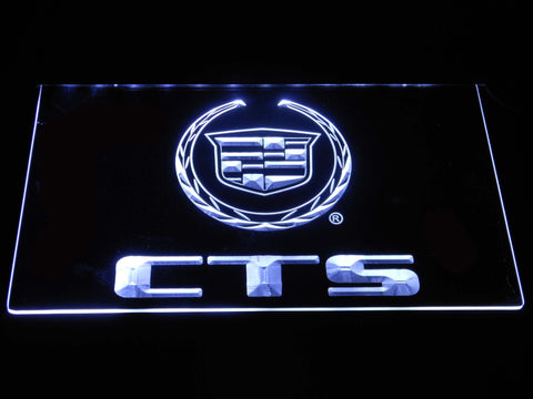 Cadillac CTS LED Neon Sign - White - SafeSpecial