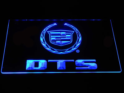 Cadillac DTS LED Neon Sign - Blue - SafeSpecial