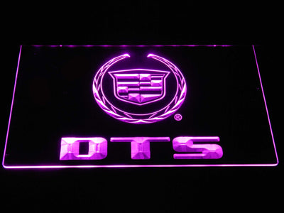 Cadillac DTS LED Neon Sign - Purple - SafeSpecial