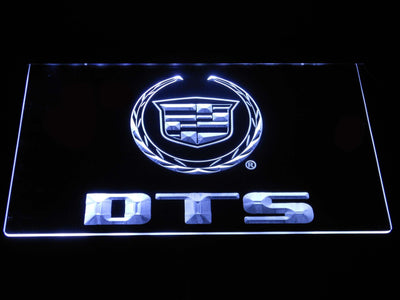 Cadillac DTS LED Neon Sign - White - SafeSpecial