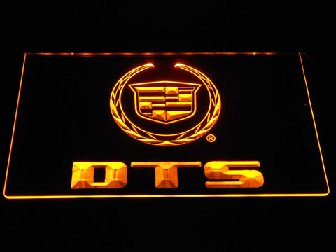 Cadillac DTS LED Neon Sign - Yellow - SafeSpecial