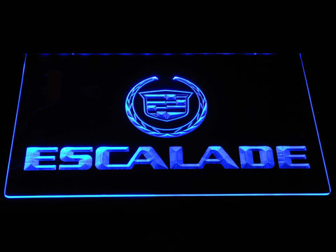 Cadillac Escalade LED Neon Sign - Blue - SafeSpecial