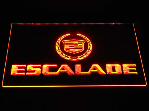 Cadillac Escalade LED Neon Sign - Orange - SafeSpecial