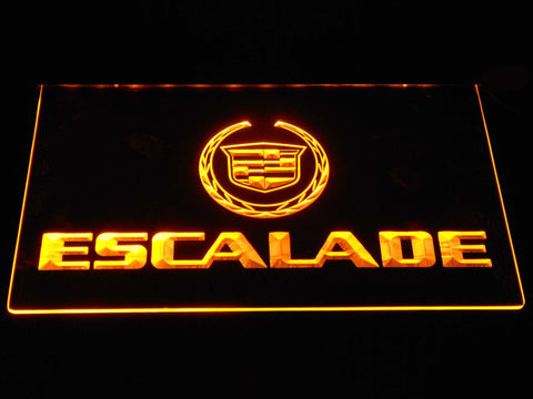 Cadillac Escalade LED Neon Sign - Yellow - SafeSpecial