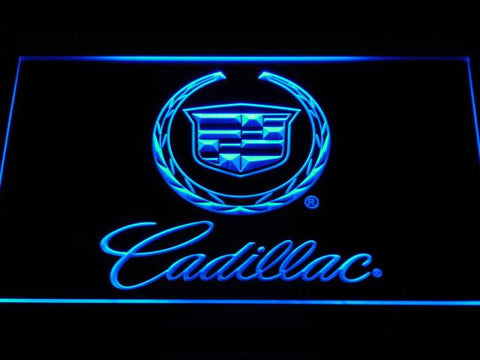 Cadillac LED Neon Sign - Blue - SafeSpecial