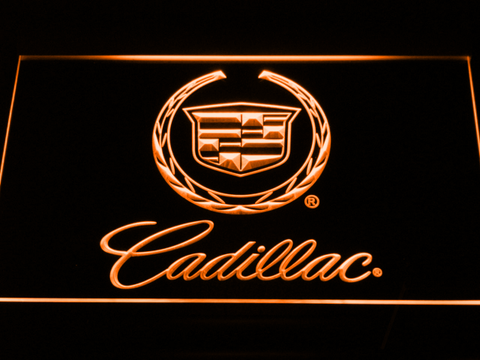 Cadillac LED Neon Sign - Orange - SafeSpecial