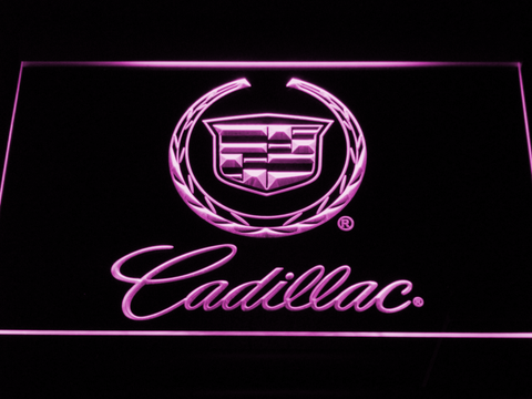 Cadillac LED Neon Sign - Purple - SafeSpecial