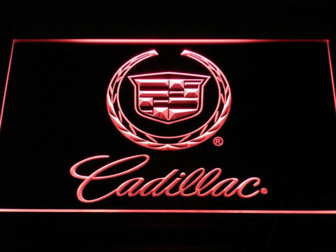 Cadillac LED Neon Sign - Red - SafeSpecial