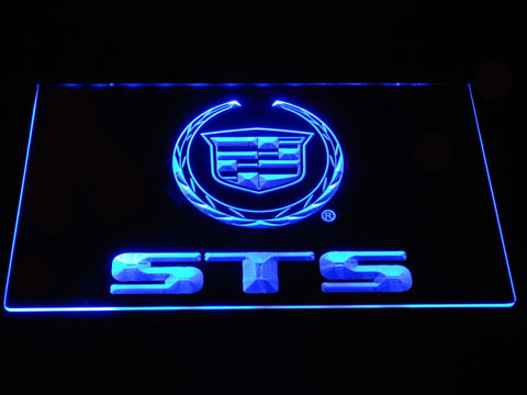 Cadillac STS LED Neon Sign - Blue - SafeSpecial