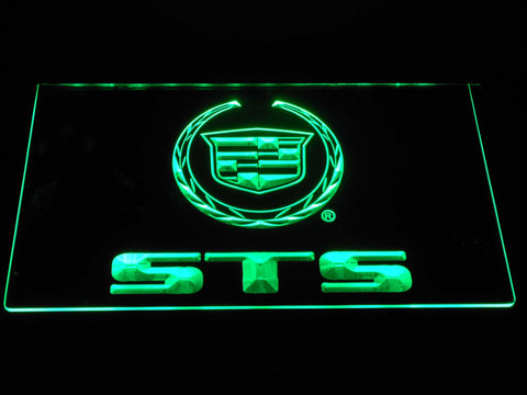 Cadillac STS LED Neon Sign - Green - SafeSpecial