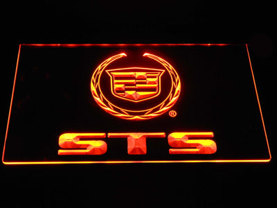 Cadillac STS LED Neon Sign - Orange - SafeSpecial