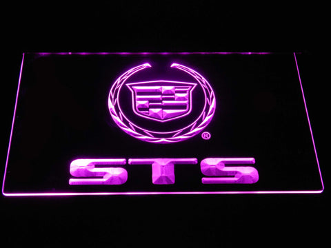 Cadillac STS LED Neon Sign - Purple - SafeSpecial