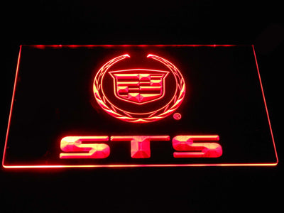 Cadillac STS LED Neon Sign - Red - SafeSpecial