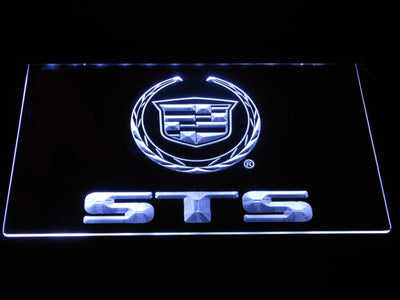 Cadillac STS LED Neon Sign - White - SafeSpecial