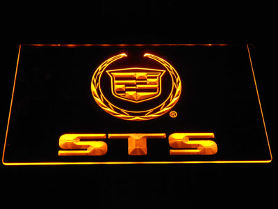Cadillac STS LED Neon Sign - Yellow - SafeSpecial