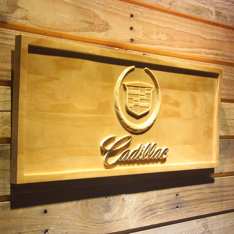 Cadillac Wooden Sign - - SafeSpecial