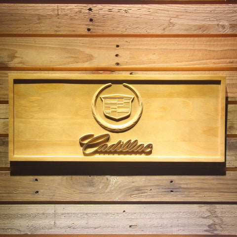 Cadillac Wooden Sign - Small - SafeSpecial