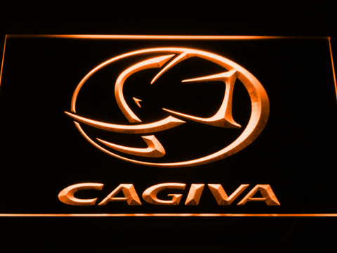 Image of Cagiva LED Neon Sign - Orange - SafeSpecial