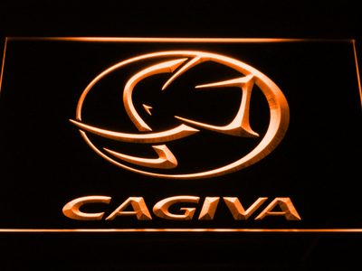 Cagiva LED Neon Sign - Orange - SafeSpecial