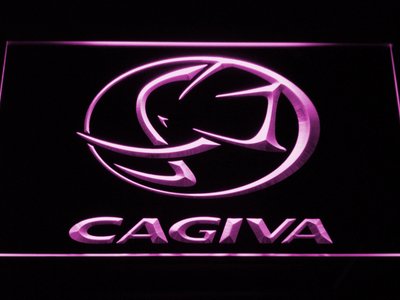 Cagiva LED Neon Sign - Purple - SafeSpecial