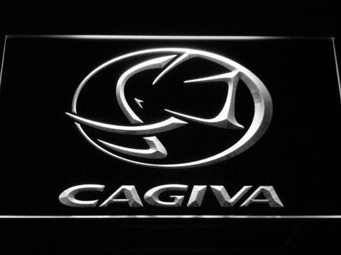 Image of Cagiva LED Neon Sign - White - SafeSpecial