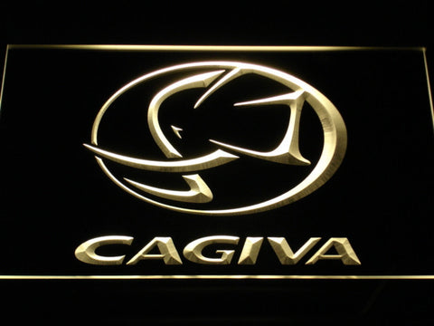 Image of Cagiva LED Neon Sign - Yellow - SafeSpecial