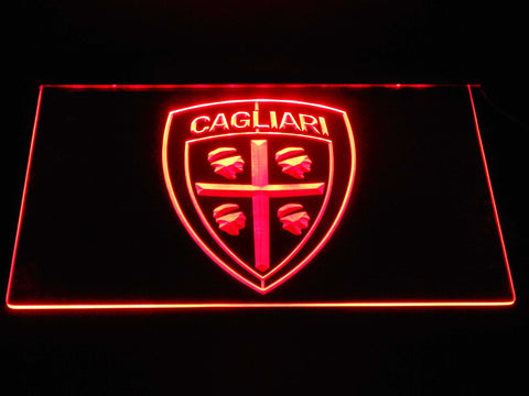 Cagliari Calcio LED Neon Sign - Red - SafeSpecial