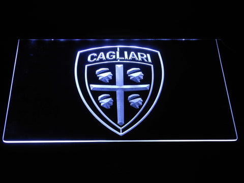 Cagliari Calcio LED Neon Sign - White - SafeSpecial